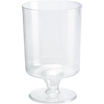Verre à vin en plastique transparent 17 cl (12 pièces)