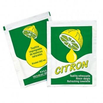 Lingettes rince-doigts citron ( 500 pièces)