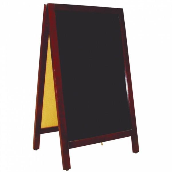 Stoepbord zwart 50 x 85 cm 2 zijkanten