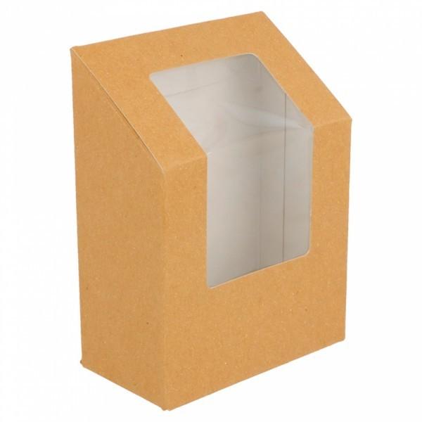Tortilla en Wrap Verpakking in Bruine Kraft 9,2x5,1x9,2/12,5 cm ( 100 stuks)