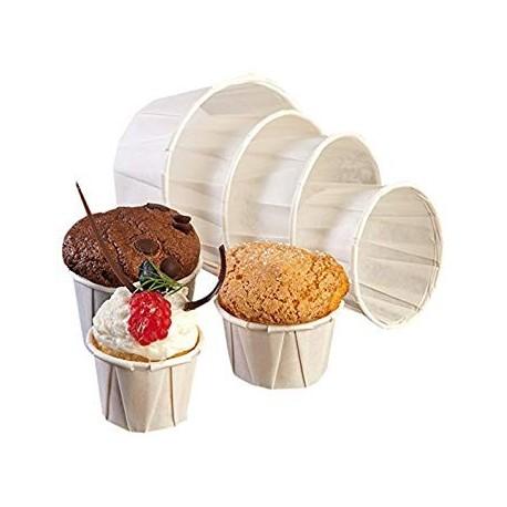 Pots en papier plissé ingraissable ( 250 pièces)