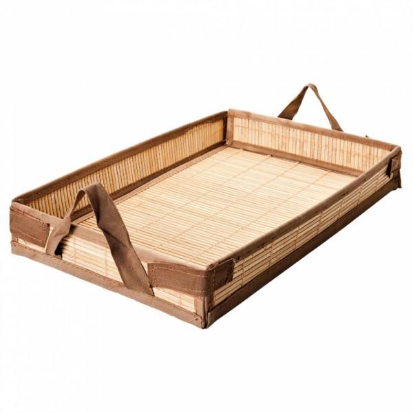 Bamboe schotel 43x29x6.5cm