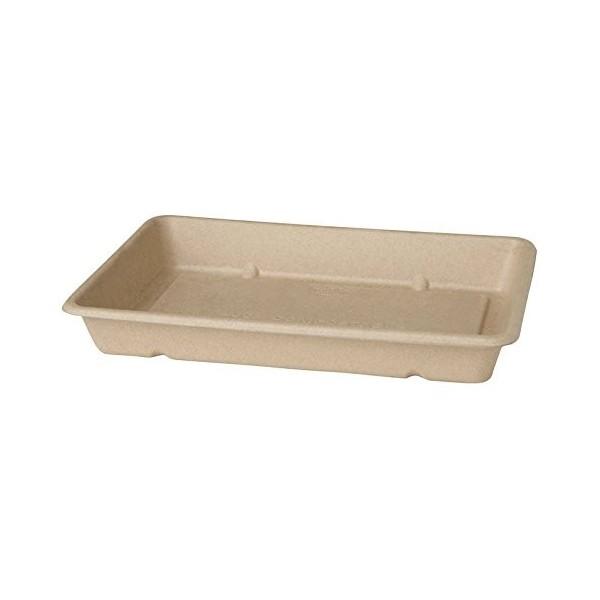 40 barquettes  en carton biodégradable 230 mm x 155 mm x 36 mm