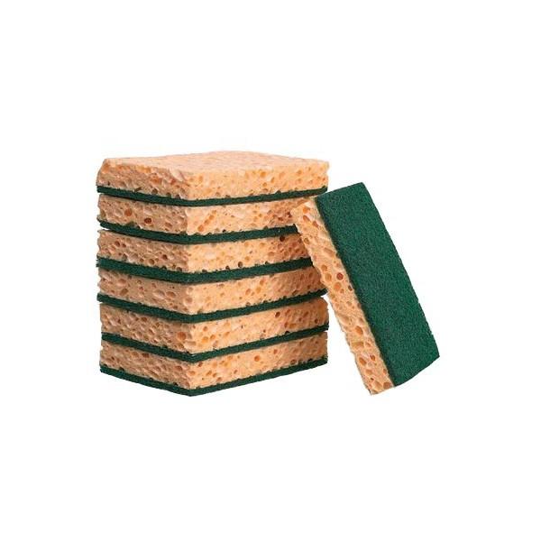 Schuurspons Vegetaal 14X9x2.5 cm 10 st