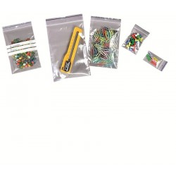 Toplock- Sachets Plastiques à Fermeture Zip - PELD transparent 50 my