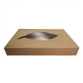 Boîtes de traiteur en carton avec fenêtre ( 10 pièces)