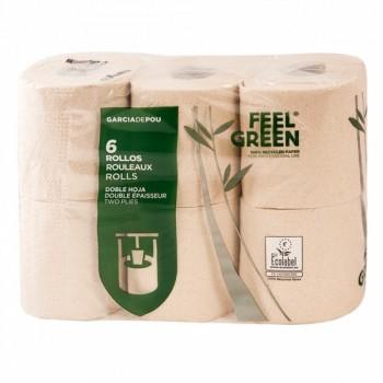 6 rouleaux de papier toilettes / hygiénique écologique