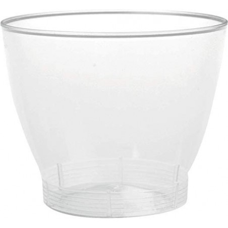 Mini verre dégustation en plastique transparent 6.5 cL (40 pièces)
