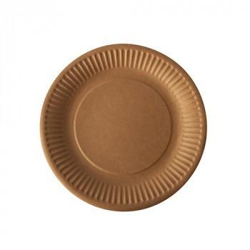 "Biologisch afbreekbaar bord, karton ""pure"" bruin"