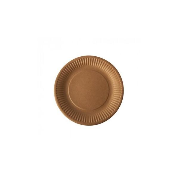 Assiettes en carton kraft brun ( 100 pièces)