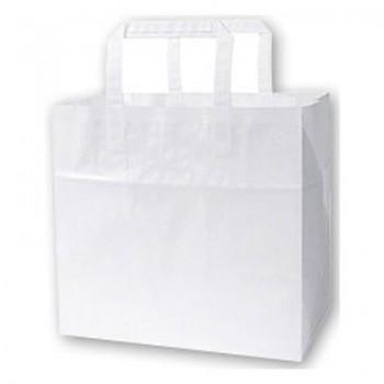 1 doos van 300 Papieren takeaway tassen 32x17x29cm