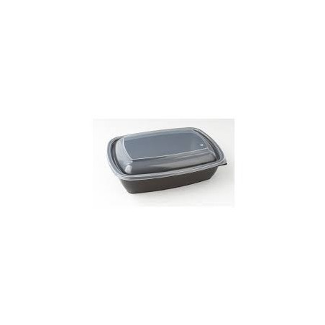 Ravier noir 1 compartiment micro ondables 900ml