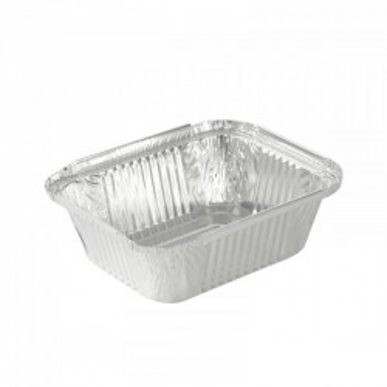 Combi barquette alu 500ml + couvercle transparent