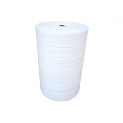 Film mousse 125cm x 3 mm x 100m Rouleau Blanc