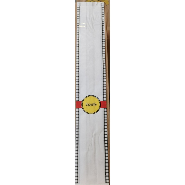 Sac pour baguette 9,5 x ( 2 x 3,7) x 62cm ( 1000 pcs)