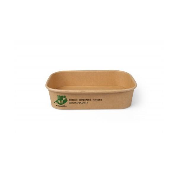 25 Boites pour repas 500ml - brun - 100% compostable