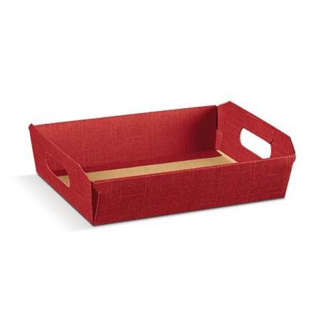 Panier rectangulaire en carton bordeaux