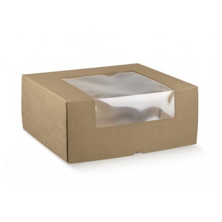 Boîtes de traiteur en carton avec fenêtre (10 pièces)