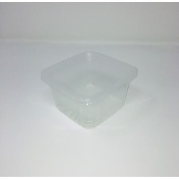 Barquette traiteur PP 500ml carré (par 500pces) + Couvercle