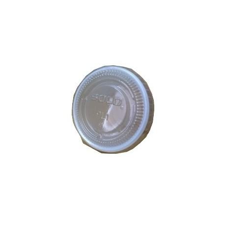 Couvercle ravier rond PS transparent