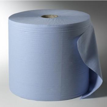 Voordelige poetsrol -midi-2-laags- blauw