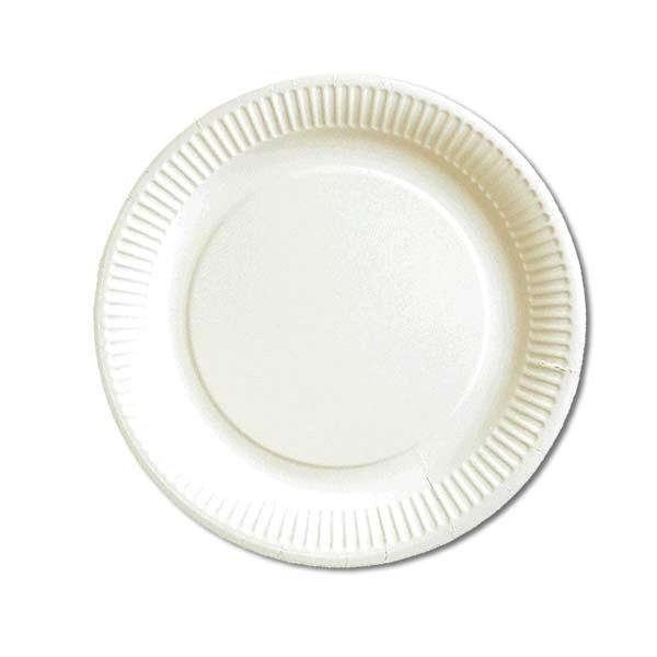 Assiette carton blanc