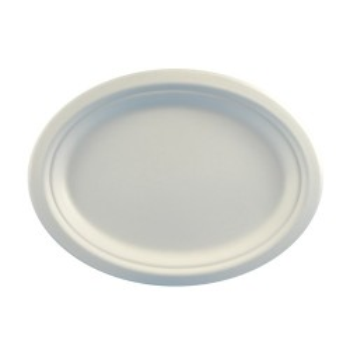 Assiette ovale carton biodégradable