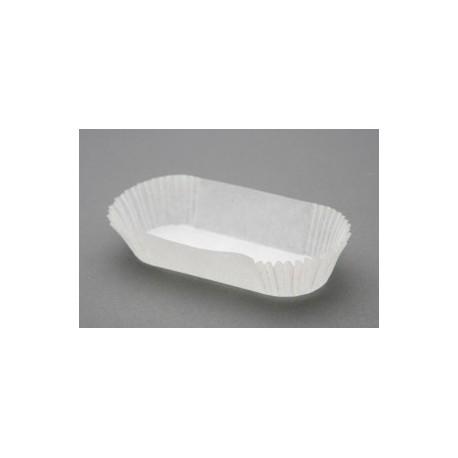 Caissette de pâtisserie plissée ovale pour éclairs 135x34x27mm