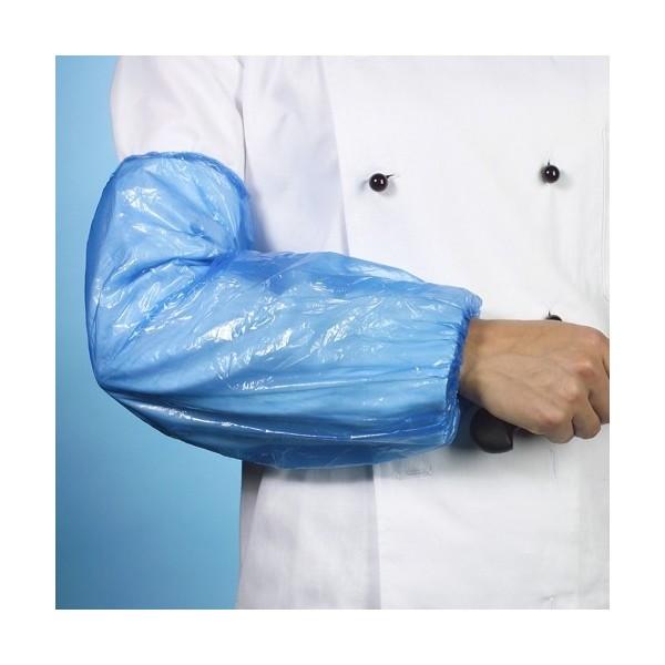 Manchettes de protection en PE 40cm x 20cm - bleu
