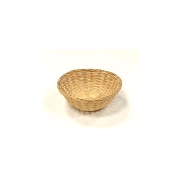 Panier en osier avec tissu et anses pliables