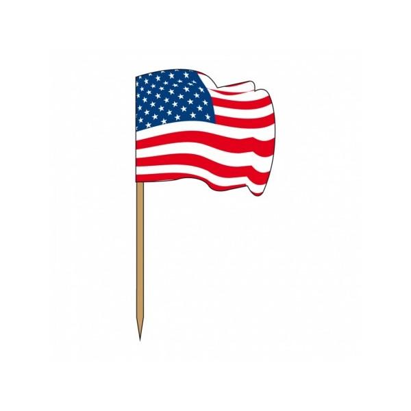 Petits drapeaux en bois