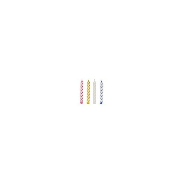 Bougies d'anniversaires 6 cm couleurs assorties 5 ( 144 pièces)