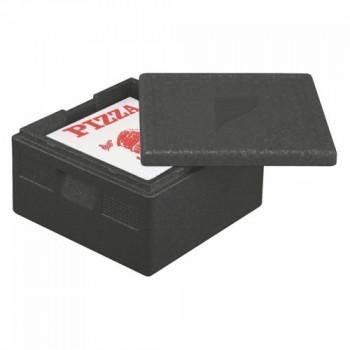 """Boîtes isothermes de transport en P.P.E. 41 cm x 41 cm x 24 cm noir """"Pizza"""""""