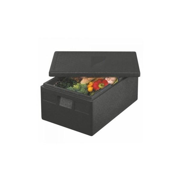 """Boîtes isothermes de transport en P.P.E. 60 cm x 40 cm x 23 cm noir """"Gastro-Norm 1/1"""""""