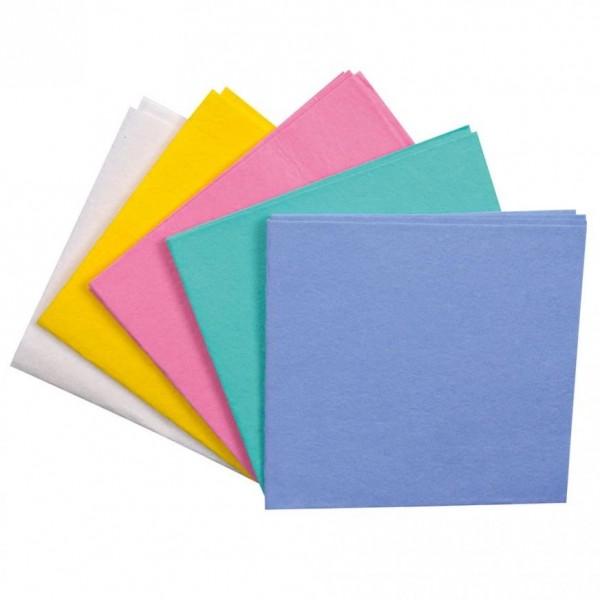 Multifunctioneel poetsdoeken, geassorteerde kleuren ( 50 stuks)
