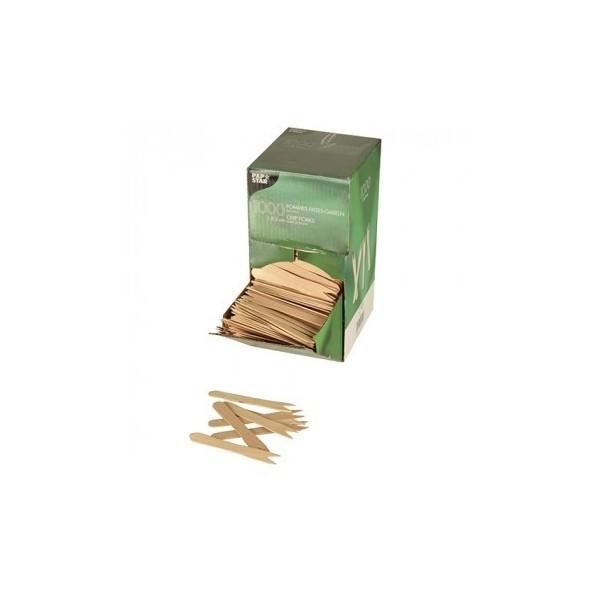 1000 Fritesvorkjes, hout 'pure' 8,5 cm