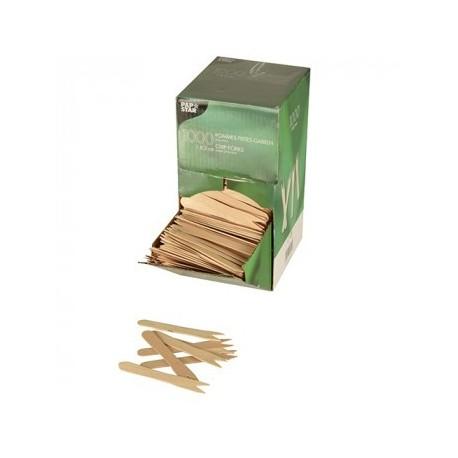 1000 Piques-frites en bois 'pure' 8,5 cm