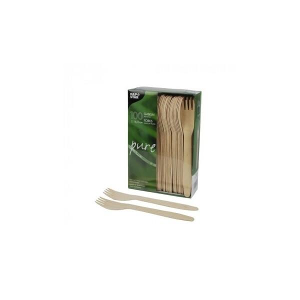 100 Fourchettes, bois 'pure' 16,5 cm