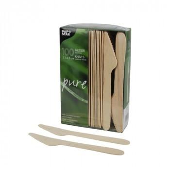 100 Couteaux, bois 'pure' 16,5 cm