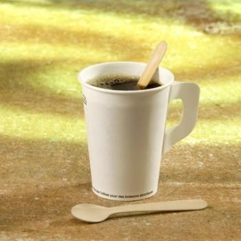 100 Cuillères à café en bois 'pure' 11 cm