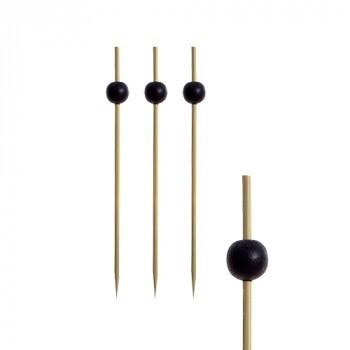 250 Fingerfood spiesjes 'Black Pearl'