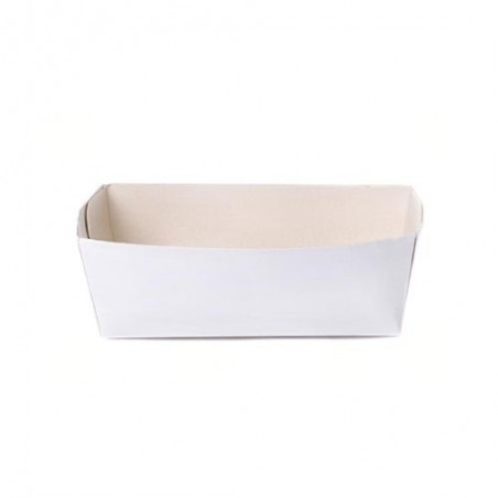 Barquettes à frites en carton blanc ( 250 pièces)